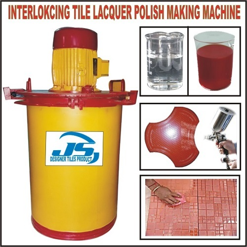 Interlocking Tile Lacquer Polish Making Machine
