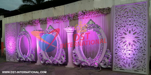 White FRP Oval Frames Stage