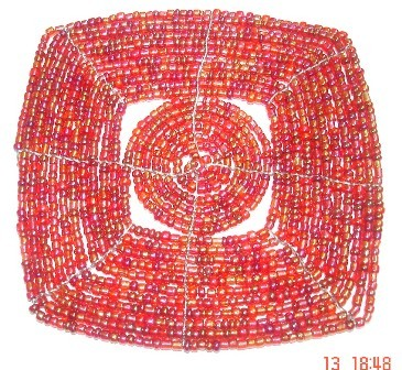 PINK Beaded Coaster
