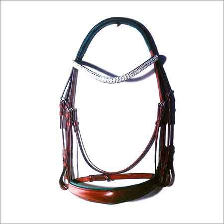 Fancy Swarovski Chain Horse Leather Bridle