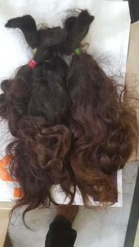 Remy Natural Straight Brown - Bulk Hair