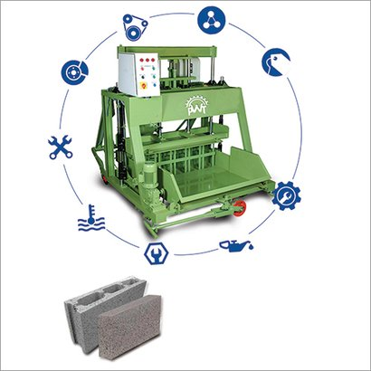 Hydraulically Operated Block Making Machine Certifications: Iso 9001-2008