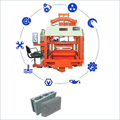Auto Feeder Double Punch Hollow Block Machine