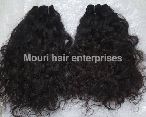 Machine Weft Natural Deep Curly Black & Brown Hair