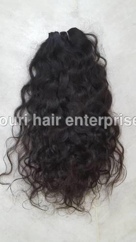 Machine Weft Natural Deep Wave Brown Hair