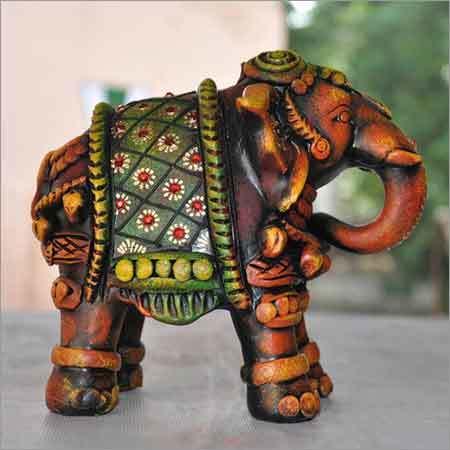 Terracotta Elephant Sculpture