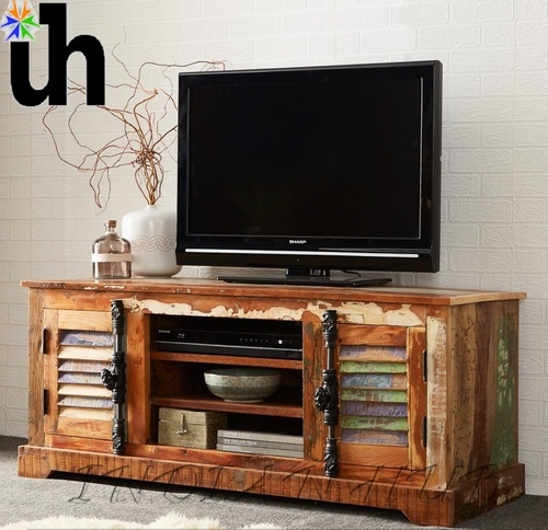 Wood TV Media Unit