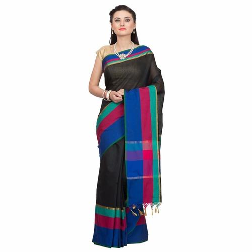 Cotton Silk multi border designer saree