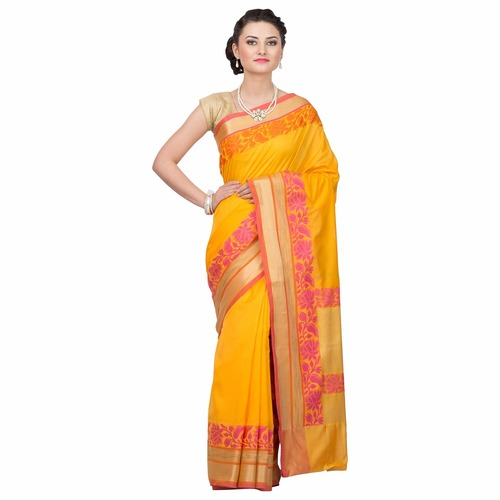 Crepe silk traditional banarsee