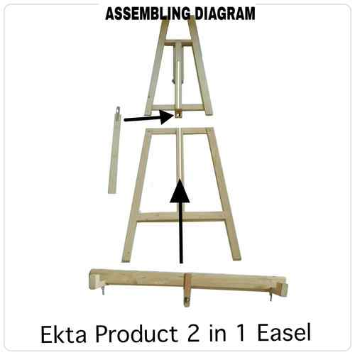Display easel 2 in 1