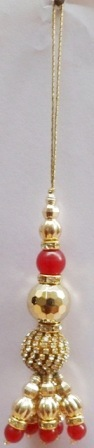 RED Lehnga Saree Tassel
