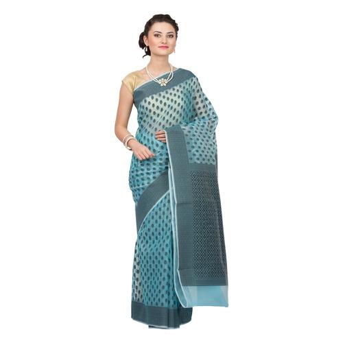 Organza silk weawing designer saree