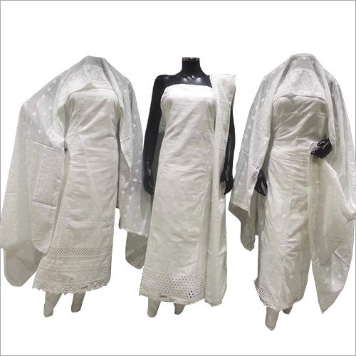 Cotton White Unstiched Suit