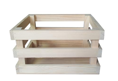 Pine Wooden Storage Box - A