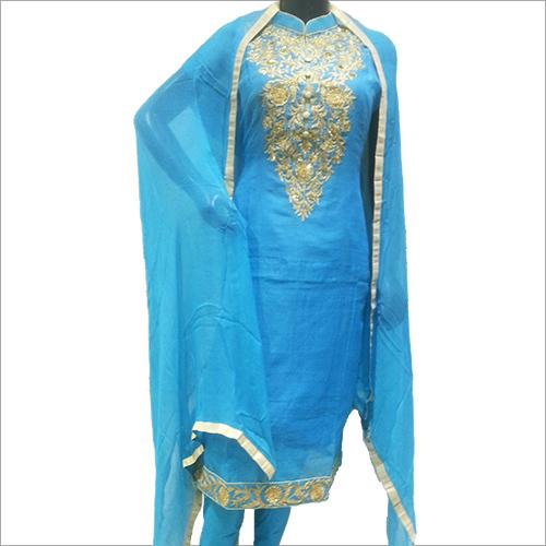 Ladies Blue Embriodery Suit