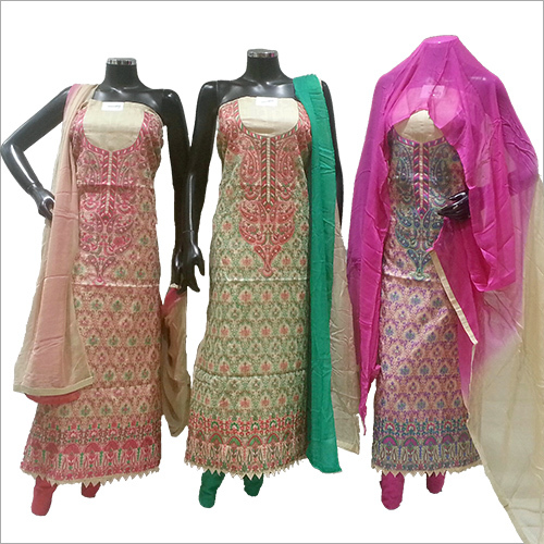Ladies Hand Embroidery Suit