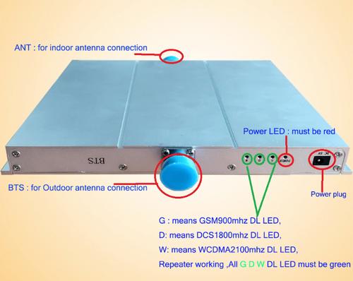 Triband 900/1800/2100 (2G/3G) Medium Power Signal Booster (Voice & Data)