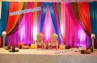 Mehandi Stage Sangeet Backdrop