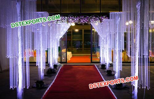 Wedding Aisle Decoration Crystal Pillars Hanging