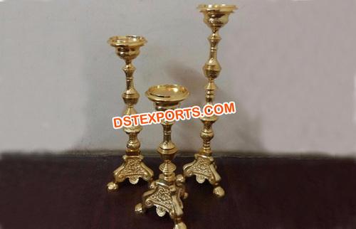 Gold Metal Candle Holder