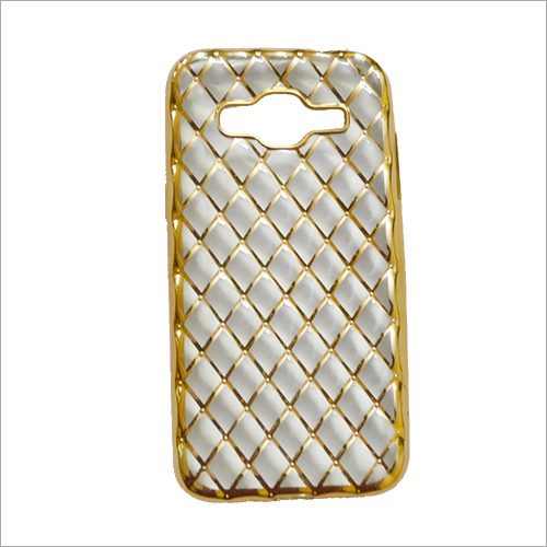 Designer Gold Back Mobile Cover