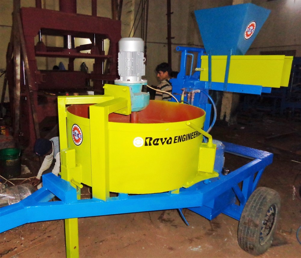 Portable Hydraulic Interlocking Block Machine