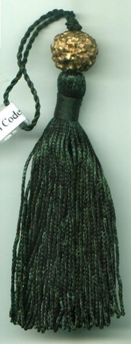 Dark Green  Mini Tassel