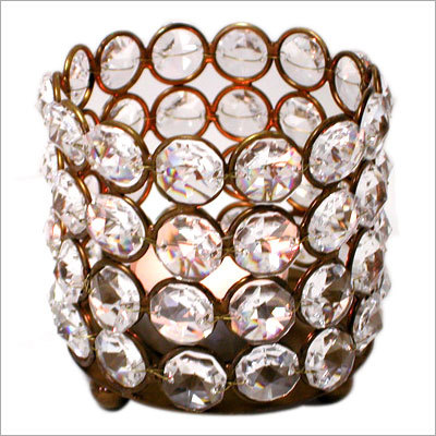 Designer Crystal Bead Votive Holders