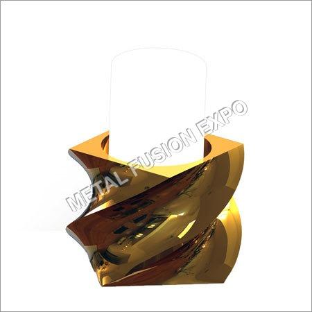 Rectangle Pillar Holder With Twist Design