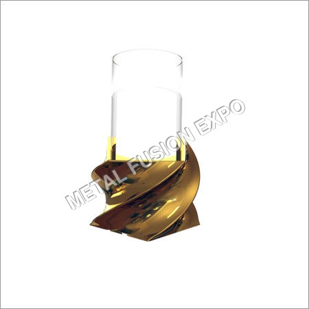 Pillar Holder With Glass and Twist