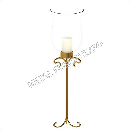 Pillar Holder Gold Finish 15 Inch