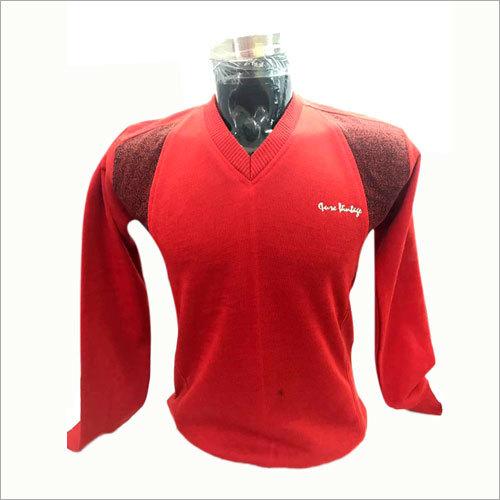Mens V Neck Red T-Shirt