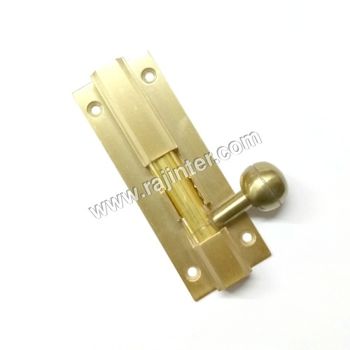 Aluminium Matt Gold Finish V Hex Tower Bolt