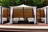 Outdoor Cabana & Umbrella