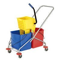 Side-press Double Mop Wringer Trolley For Hotel