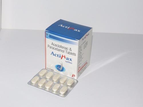 Aceclofenac 100mg Paracetamol 325 mg Tablets