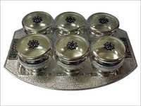 Silver Trey With Bowls