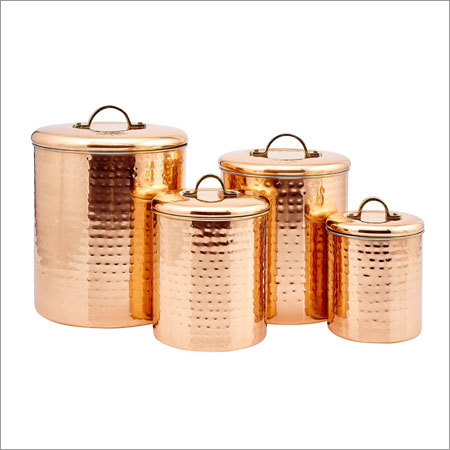 Copper Kitchen Canister