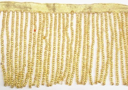 GOLDEN BEADED FRINGE
