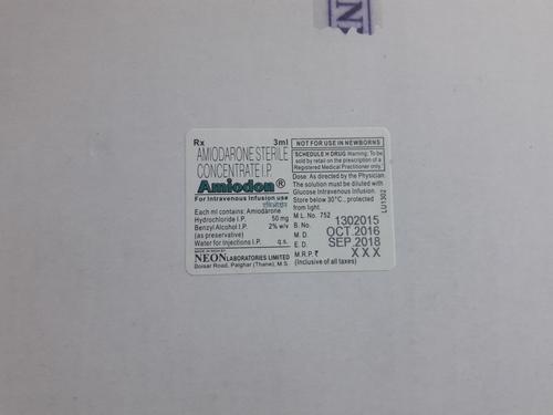 Amiodon Amiodarone Sterile Concentrate I.P.