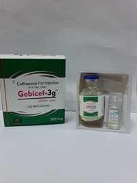 Sterile ceftriaxone sodium   3gm