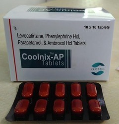 Levocetrizine 2mg, Phenylephrine 2.5mg,Paracetamol