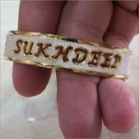 Gold Plated Name Kada