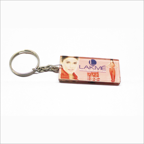 Rectangular Print Promotional Keychains