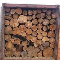 Sudan Origin Teak Round Logs