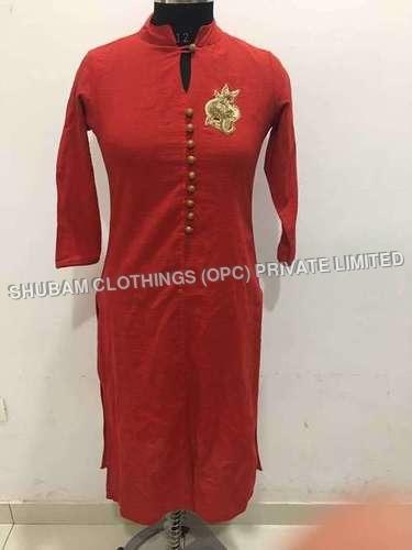 plain cotton kurti