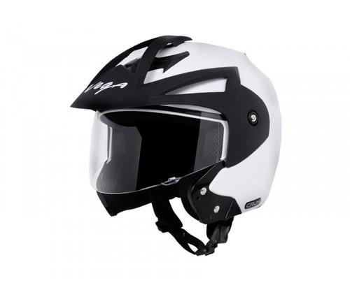 Crux Open Face White Helmet