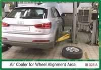 Air cooler For wheel Alignment Area