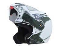 CRUX DX CAMOFLAGE DULL WHITE BATTLE GREEN HELMET