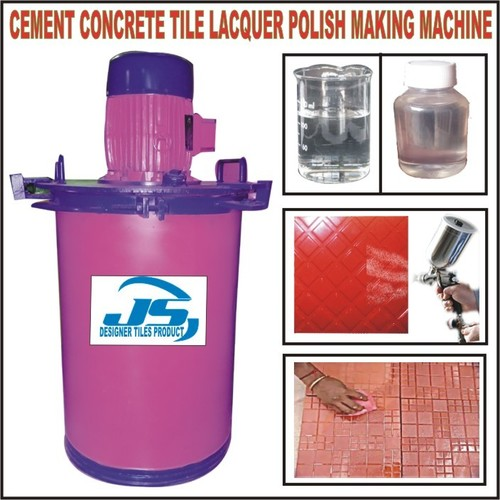 Cement Concrete Tile Lacquer polish making machine